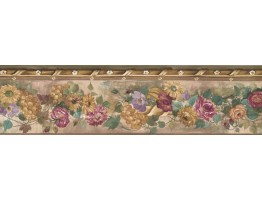Prepasted Wallpaper Borders - Floral Wall Paper Border PP76552