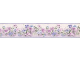 3 1/2 in x 15 ft Prepasted Wallpaper Borders - Floral Wall Paper Border PP76558