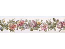 5 in x 15 ft Prepasted Wallpaper Borders - Floral Wall Paper Border PP76575DC