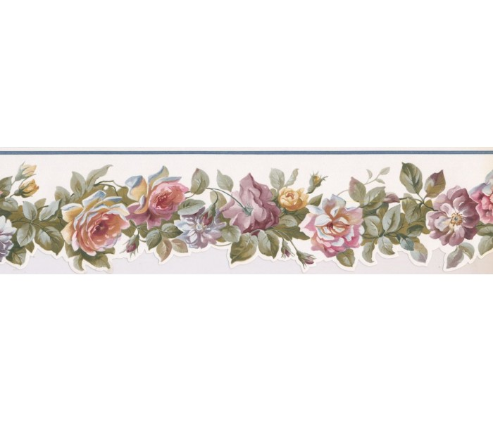 New  Arrivals Wall Borders: Floral Wallpaper Border PP76575DC