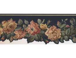 Prepasted Wallpaper Borders - Floral Wall Paper Border PP76576DC