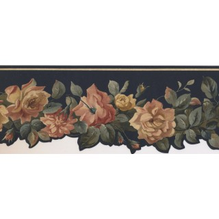 5 in x 15 ft Prepasted Wallpaper Borders - Floral Wall Paper Border PP76576DC