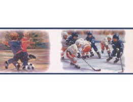 Prepasted Wallpaper Borders - Sports Wall Paper Border PR3900B
