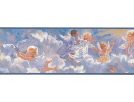 Prepasted Wallpaper Borders - Angels Wall Paper Border PR3972B