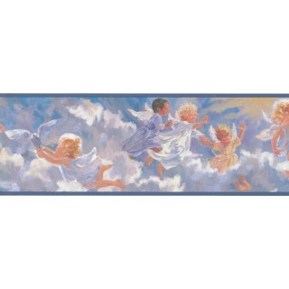 7 in x 15 ft Prepasted Wallpaper Borders - Angels Wall Paper Border PR3972B