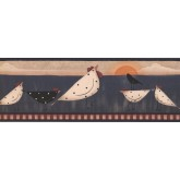 New  Arrivals Wall Borders: Roosters Wallpaper Border PV5169B