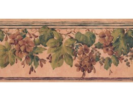 Prepasted Wallpaper Borders - Floral Wall Paper Border PZ1016B