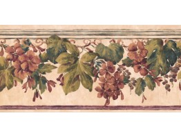 9 1/4 in x 15 ft Prepasted Wallpaper Borders - Floral Wall Paper Border PZ1017B