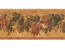 Prepasted Wallpaper Borders - Floral Wall Paper Border PZ1019B