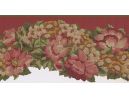 Prepasted Wallpaper Borders - Floral Wall Paper Border PZ1215B