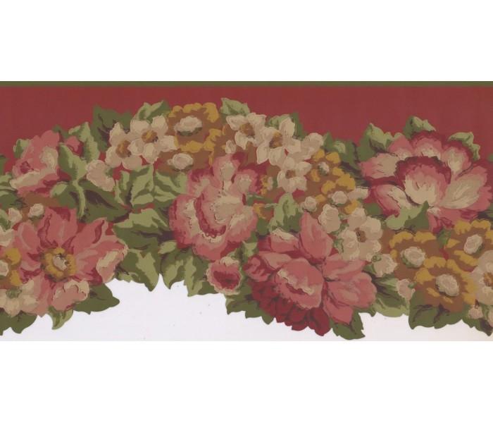 New  Arrivals Wall Borders: Floral Wallpaper Border PZ1215B