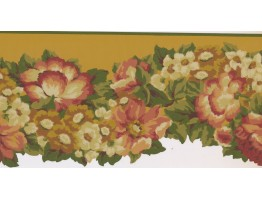 10 in x 15 ft Prepasted Wallpaper Borders - Floral Wall Paper Border PZ1216B