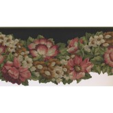 New  Arrivals Wall Borders: Floral Wallpaper Border PZ1218B