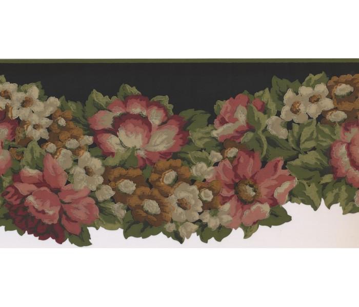 New  Arrivals Wall Borders: Floral Wallpaper Border PZ1218B