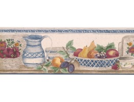 7 in x 15 ft Prepasted Wallpaper Borders - Kitchen Wall Paper Border RB360B