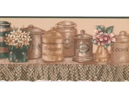 Prepasted Wallpaper Borders - Kitchen Wall Paper Border RC005102B