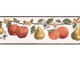 7 in x 15 ft Prepasted Wallpaper Borders - Fruits Wall Paper Border RC005112B