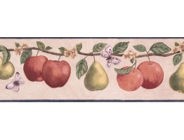 7 in x 15 ft Prepasted Wallpaper Borders - Fruits Wall Paper Border RC005114B