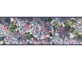 7 in x 15 ft Prepasted Wallpaper Borders - Floral Wall Paper Border RC005152B