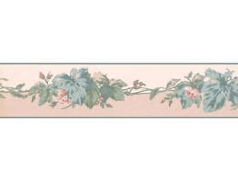 Prepasted Wallpaper Borders - Leaves Wall Paper Border RC5351B