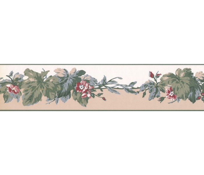 New  Arrivals Wall Borders: Leaves Wallpaper Border RC5352B