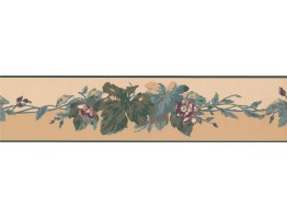 Prepasted Wallpaper Borders - Leaves Wall Paper Border RC5353B