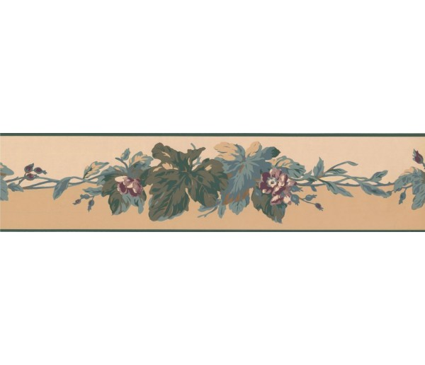 New  Arrivals Wall Borders: Leaves Wallpaper Border RC5353B