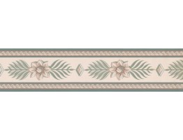 Prepasted Wallpaper Borders - Floral Wall Paper Border RC5424B