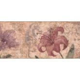 New  Arrivals Wall Borders: Floral Wallpaper Border RG3702B