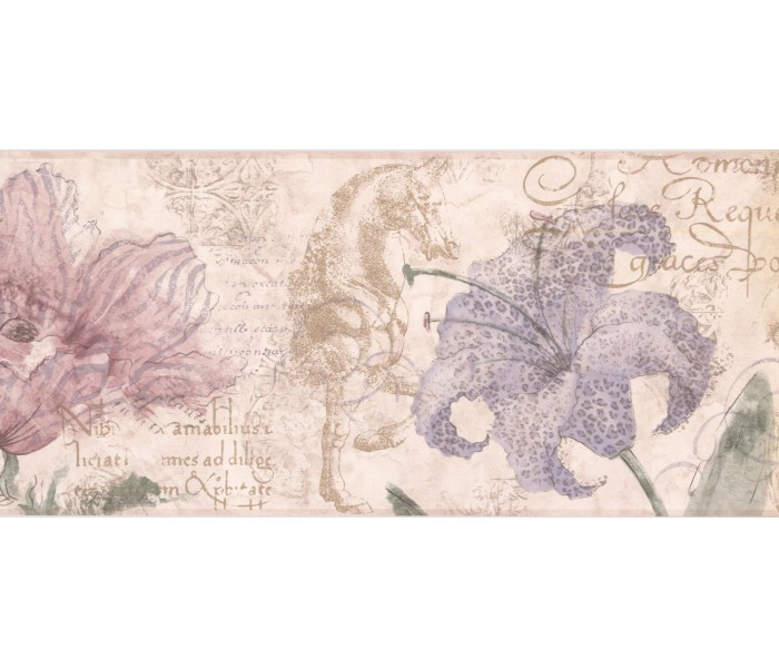 New  Arrivals Wall Borders: Floral Wallpaper Border RG3703B