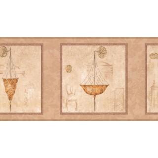10 1/4 in x 15 ft Prepasted Wallpaper Borders - Chandelier Light Wall Paper Border RG3757B