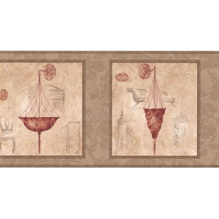 10 1/4 in x 15 ft Prepasted Wallpaper Borders - Chandelier Light Wall Paper Border RG3758B