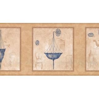 10 1/4 in x 15 ft Prepasted Wallpaper Borders - Chandelier Light Wall Paper Border RG3759B