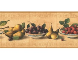 Prepasted Wallpaper Borders - Fruits Wall Paper Border RG3781B