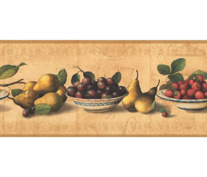 New  Arrivals Wall Borders: Fruits Wallpaper Border RG3781B