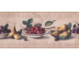 Prepasted Wallpaper Borders - Fruits Wall Paper Border RG3784B