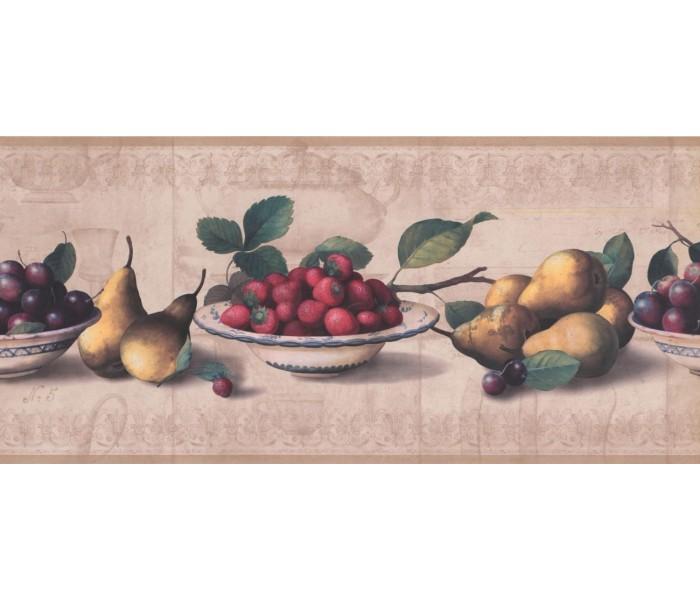 New  Arrivals Wall Borders: Fruits Wallpaper Border RG3784B