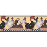 New  Arrivals Wall Borders: Roosters Wallpaper Border RG3843B