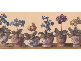 Prepasted Wallpaper Borders - Floral Wall Paper Border RG3878B