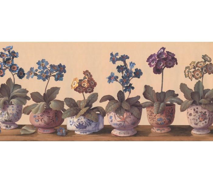 New  Arrivals Wall Borders: Floral Wallpaper Border RG3878B
