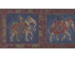 Prepasted Wallpaper Borders - Elephant Wall Paper Border RG3939B