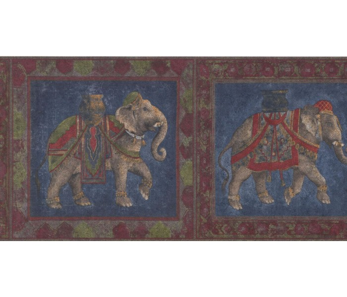 New  Arrivals Wall Borders: Elephant Wallpaper Border RG3939B