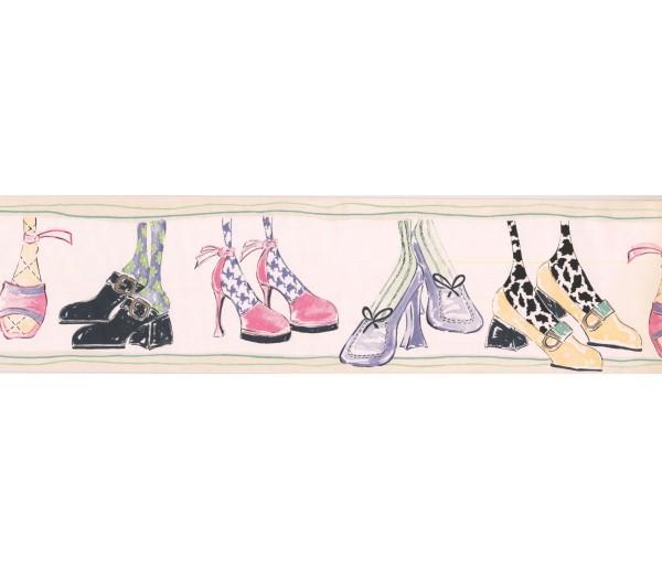 New  Arrivals Wall Borders: Ladies Shoe Wallpaper Border RK6907B