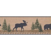 New  Arrivals Wall Borders: Animals Wallpaper Border RST2332