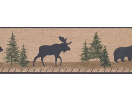 7 in x 15 ft Prepasted Wallpaper Borders - Animals Wall Paper Border RST2332