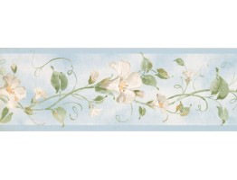 Prepasted Wallpaper Borders - Floral Wall Paper Border RY3252B