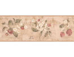 Flower and Fruits Wallpaper Border RY3290B