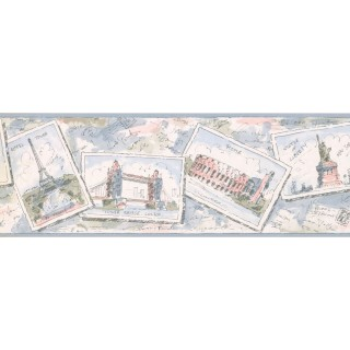 7 in x 15 ft Prepasted Wallpaper Borders - Cards Wall Paper Border RY3341B