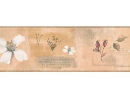 7 in x 15 ft Prepasted Wallpaper Borders - Floral Wall Paper Border RY3385B