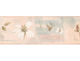 7 in x 15 ft Prepasted Wallpaper Borders - Floral Wall Paper Border RY3388B